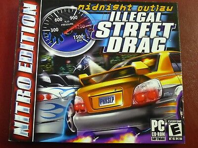 Video Game PC Midnight Outlaw Illegal Street Drag Nitro Edition NEW SEALED
