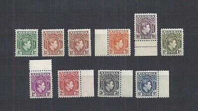 Nigeria – 10 Stamps from 1938-51 Issue – Mint – Never Hinged