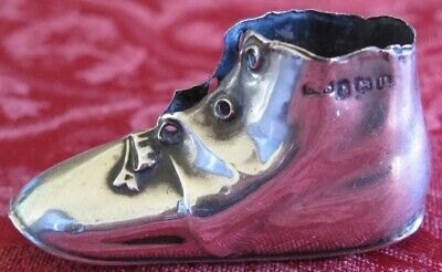 Antique Levi & Salaman 925 Sterling Silver Shoe Pin Cushion 1919