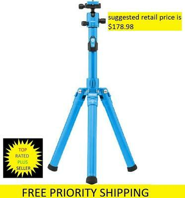 MeFOTO GlobeTrotter Air Travel Tripod Blue w/ Dual Action Ball Head selfie stick