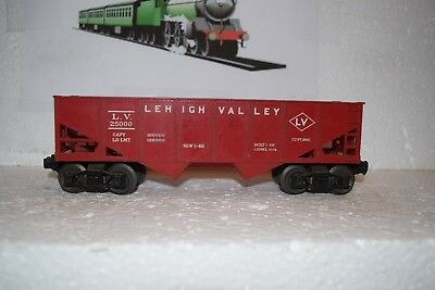 O Scale Trains Lionel Lehigh Valley Hopper 25000 Red