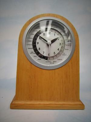 Vintage Quartz Mantel Clock W/ International Date Line Time Display