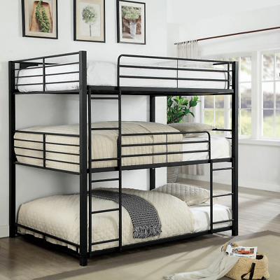 Triple Bunk Beds 3 In One Tri Tier Full Size Metal Loft Bed Frame