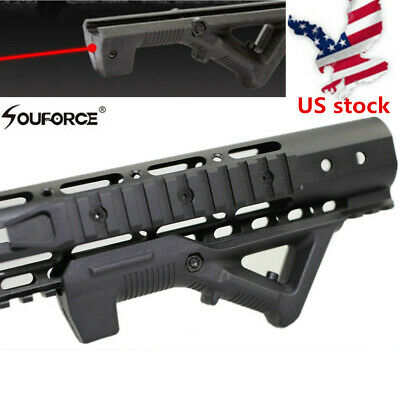 Tactical Angled Foregrip Front Grip & Red Dot Laser Sight for Picatinny Rail sys