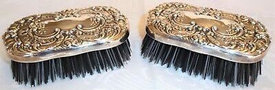 Gorham Buttercup Repousse Sterling 2 Piece Clothes Brush Set No Mono