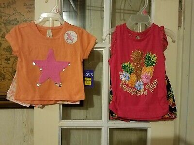 NEW Lot of 2 toddler girls Clothes size 2T 2 PC SETS