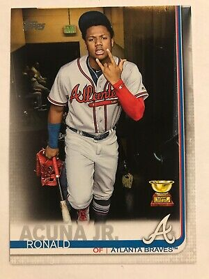 Ronald Acuna Jr. 2019 Topps Series 1 Photo Variation Sp #1 Braves Rare