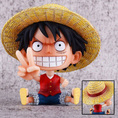 Collections Anime Jouets One Piece Luffy Victory Sign Figurine Statues 11cm