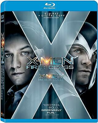 X-Men: First Class (Blu-ray, 2011, Widescreen) Factory Sealed [New]
