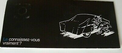 Petite brochure CHRYSLER FRANCE diapositive tirette