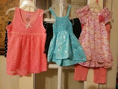 NEW Lot of 3 toddler girls Clothes size 3T 2 PC SETS