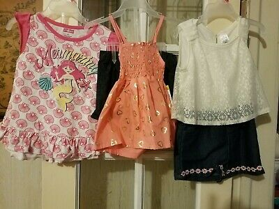 NEW Lot of 3 toddler girls Clothes size 4T 2 PC SETS