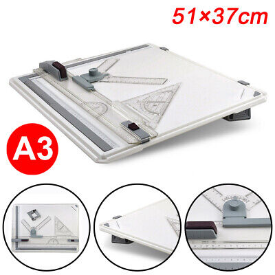 High/Pro Quality Office A3 Drawing Board Table Set With Magnetic Clamping Bar