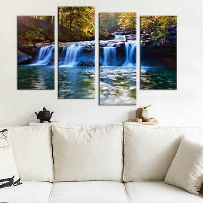Beautiful Quadruple Painting HD Print Canvas Mural For Home Adron Frameless