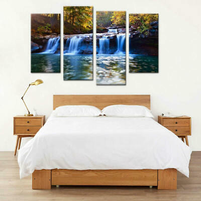Beautiful Frameless Quadruple Painting HD Print Canvas Mural For Home Adron new