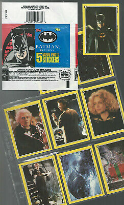 1992 Batman Returns COMPLETE Set Trading Cards Topps + Wax Wrappers
