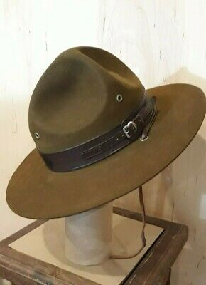 856d3c9a2ccdd Vntg. Stetson Boy Scouts Of America Scout Master Campaign Hat Excellent  Cond.