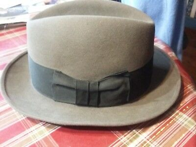 faa4540a8d0 Vintage Imperial Stetson Mens Fur Felt Fedora Hat Ultimate Finish Size 7