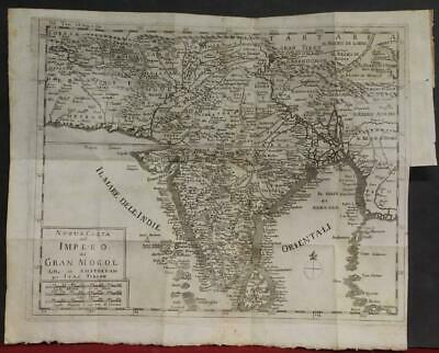 India Sri Lanka Andamans Maldives 1738 Tirion Scarce Antique Copper Engraved Map