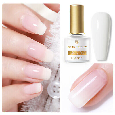 6ml Opal Jelly UV Gel Nail Polish White Soak Off  Nails Gel BORN PRETTY