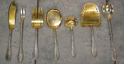 Rare Silver 800 Flatware Serving Pieces By Eugen Marcus -7Psc