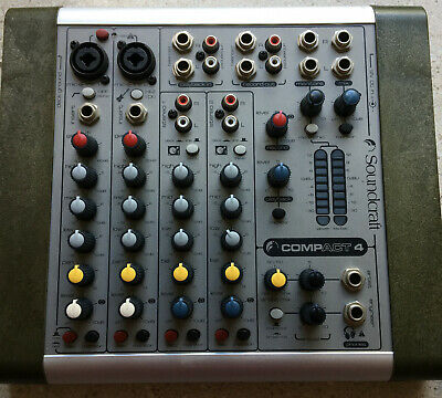 Soundcraft Compact 4 Analogue Recording Mixer, as new condition.