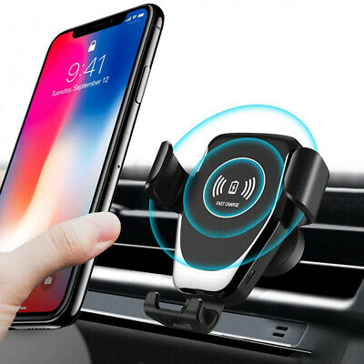 Automatic Clamping Wireless Car Charger Air Vent Mount Holder For iPhone Android