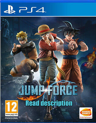 Jump Force PS4 Physical Game Brand New (Japanese/ English) EU