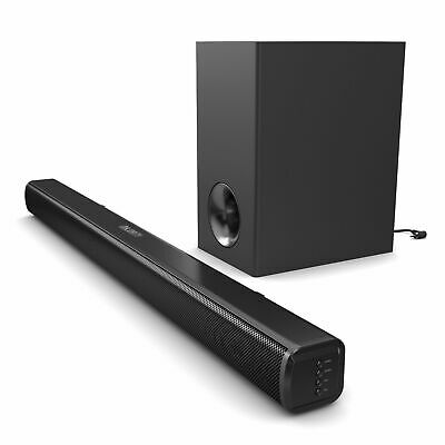 NEW Majority TV 140 Watt Sound Bar Subwoofer with Bluetooth Optical Audio