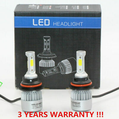 Car 9004/HB1 LED Headlight Conversion Kit 72W 8000lm Replacement 6000k Bulbs