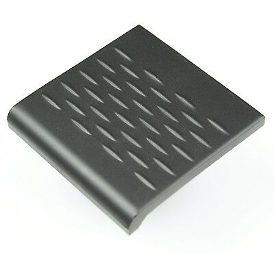 Victorian reproduction unglazed step tread tile - Black, Red & White