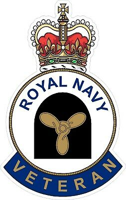 Royal Navy Stoker Veteran Sticker Uk - Cars - Vans - Laptops
