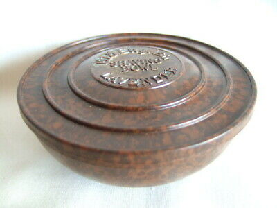 Bakelite Old English Lavender Shaving Bowl with Lid. - Boots - Brown Speckled