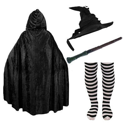 School Witch Costume Accessories Wizard World Book Day Adult Kid Fancy Dress Lot
