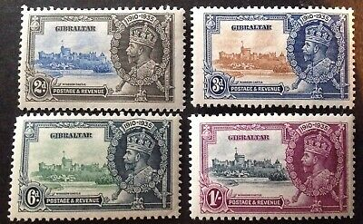 Gibraltar 1935 Silver Jubilee Set Of 4 Stamps Mint Hinged