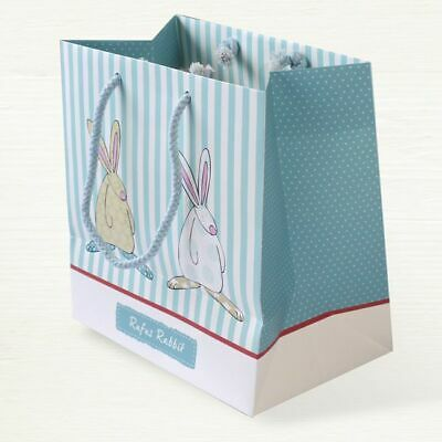 Rufus Rabbit Baby Boy Gift Bag Quality Bag - New Baby Christening Baby Shower