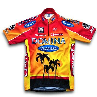 d1cffe3d6 Retro  05 Domina Vacanze SMS Santini Team Cycling Jersey (Label  42 S
