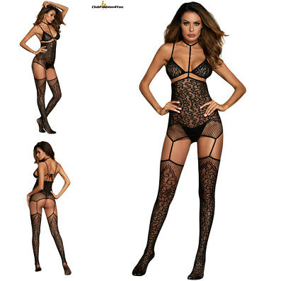 Hot Reizwäsche Fishnet Body Stocking Catsuit Netz Body Unterwäsche |H| 790068-2