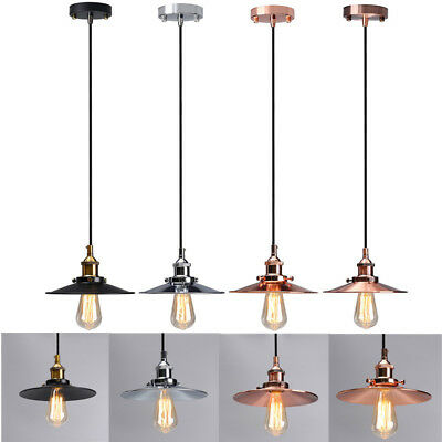 Metal Vintage Retro LED Ceiling Chandelier Art Deco Pendant Light Lampshade