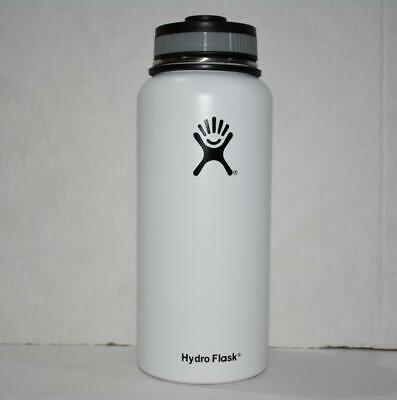 New 32oz Hydro Flask Insulated Stainless Steel Water Bottle Wide Mouth white