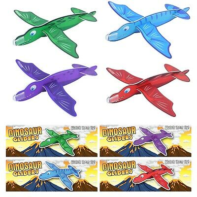 12 Mixed Kids Flying Dinosaur Styrofoam Glider Plane Party Bag Favour Filler Toy
