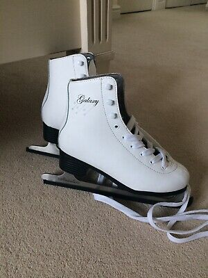 SFR Galaxy Ice Skates Size 3 (35.5) White Worn Handful Of Times Mint Condition
