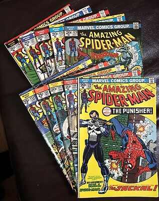 the Amazing Spider-Man lot of 10 1973 - 74 Marvel Comics Vol 1 issues #124 - 133