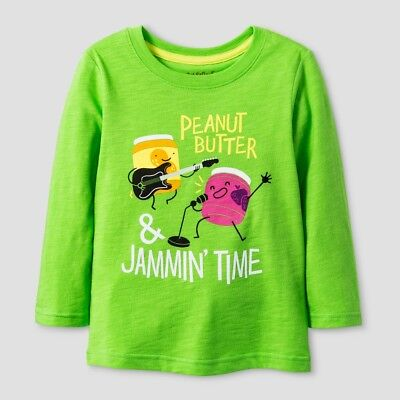 Toddler Boys' T-Shirt - Cat & Jack Peanut Butter & Jammin Time Green 12M
