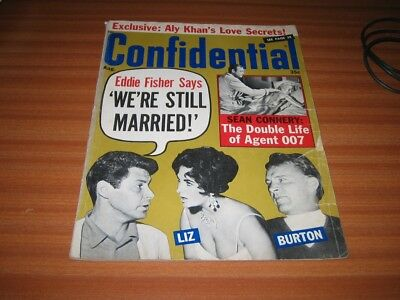 Confidential August 1965 Issue Pulp Magazine Sean Connery Oo7 James Bond Content