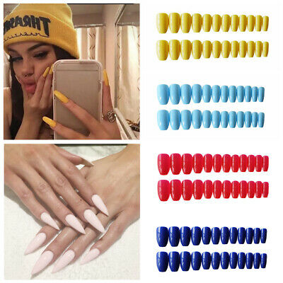 Pure color Matte Full Cover Nail Art patch Manicura consejos Uñas postizas Uña
