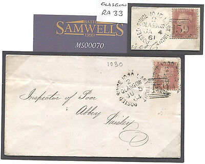 MS70 1864 GB LATE MAIL Glasgow *Posted Since Last Night* PSLN Duplexes RARE PAIR
