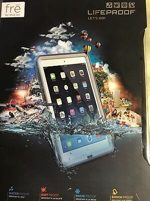 LifeProof Fre Series Case for Apple iPad Air 1st Gen. White Gray 1905-02 (USED)