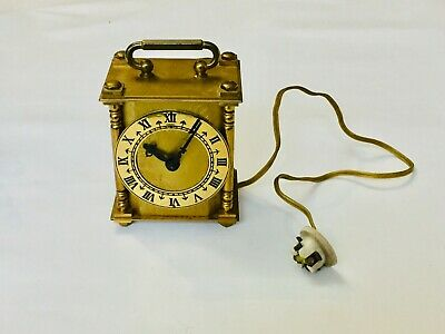 Vintage Smiths Brass Electric Mantle Carriage Clock