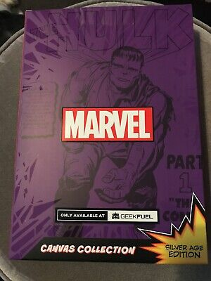 Geekfuel Exclusive Marvel The Incredible Hulk Canvas Silver Age Edition